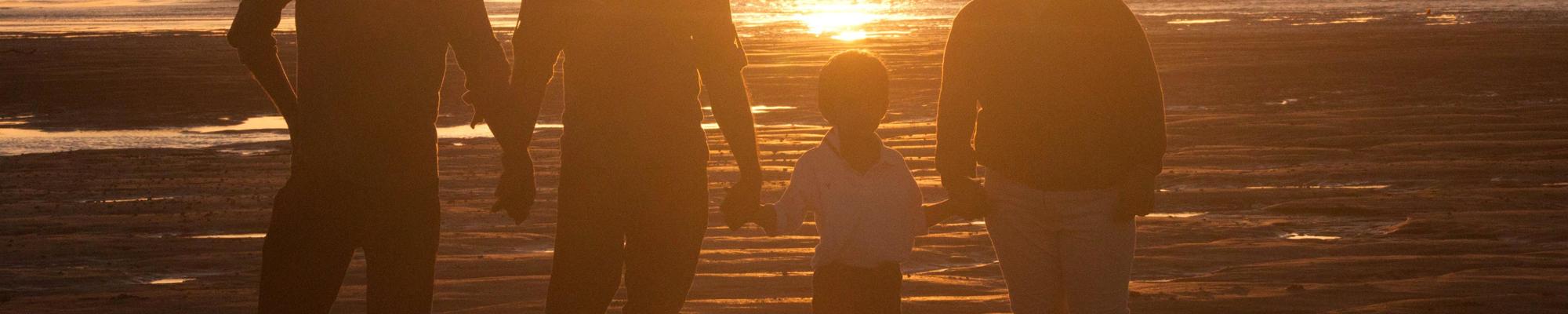 Humanos puesta de sol - MicroBioSpain